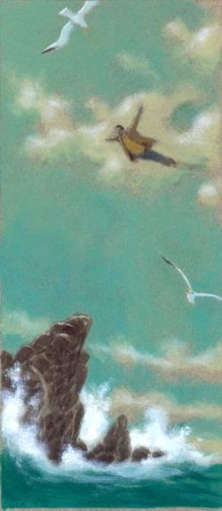 """""""Con los pies en el aire"""" (Agustín Fernández Paz) /Acrílico."""