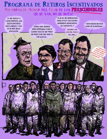 As a result of the Prestige disaster, in the magazine El Jueves (2002.)