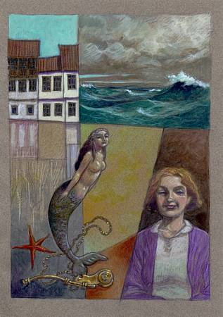 """Cuento de Sirena"" (Gonzálo Torrente Ballester), color final / Acrílico."
