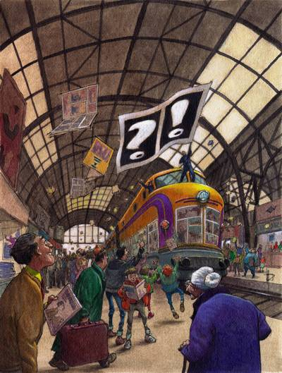 Poster of the Barcelona Comic Fair (1995) / Acrylics / 305x405 mm.