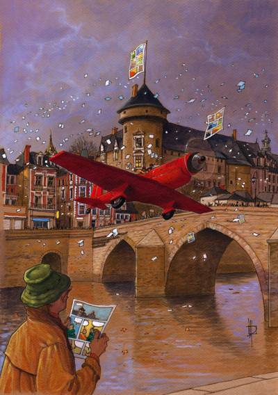 Poster of the Laval festival (2005) / Acrylic / 300x400 mm