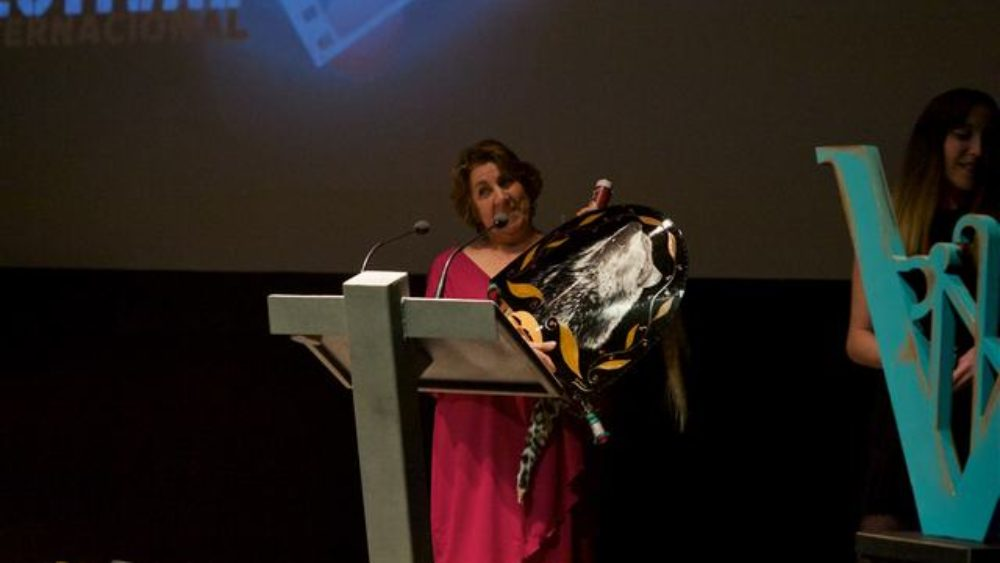 The film grandma's HERO, by Ben Ozeri and Corentin Monnier, winner of the Audience Award, invited Animacam Festival, in FICVERIN 2018.